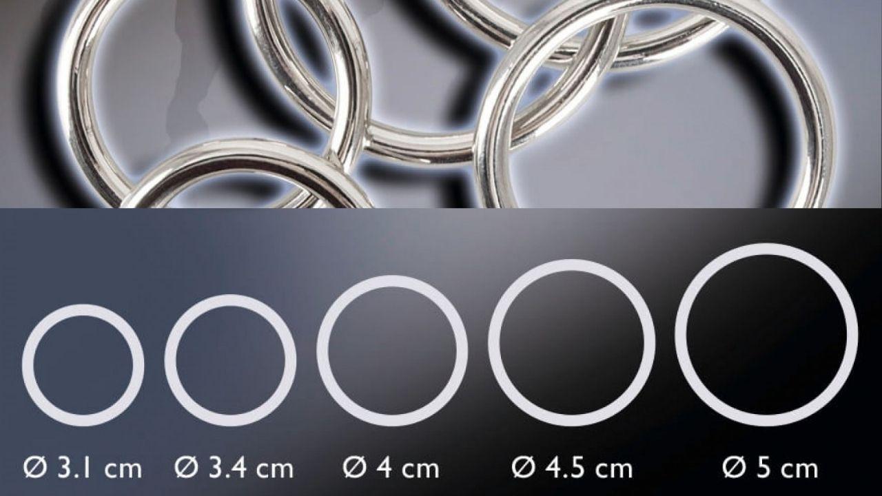 Fém péniszgyűrű szett - 5 darabos